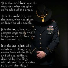 It is the soldier, for whom their sacrifice *must be remembered every Memorial Day.