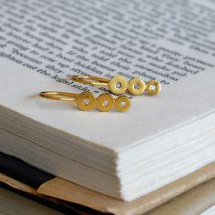 handmade 18k gold  diamond earrings