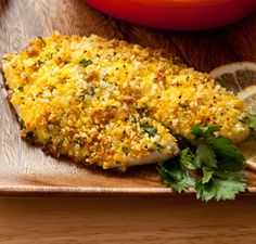 Baked Tilapia  I know I pin a lot of tilapia recipes...that's because I love it! This looks great--things usually in the house. Hmmmm could be dinner tonight!