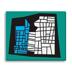 Wildon Home  Civil Gridlock I by New Era Graphic Art on Wrapped Canvas Size:
