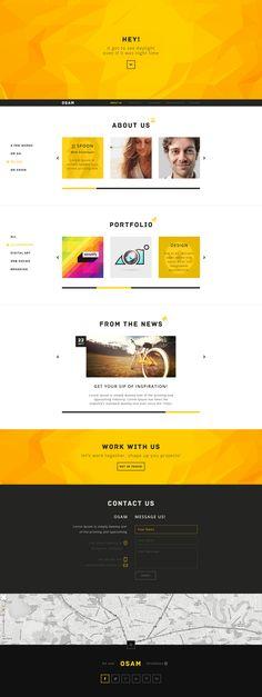 Ejemplos simples de diseño Web. La tendencia es hacerlo de manera simple, limpia y llamativa.