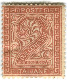 Italy postage stamp: due centesimi 1860/70s from karen horton (flickr) STAMP SET http://www.flickr.com/photos/karenhorton/sets/72157613482977550/with/4810881582/ TUMBLR http://stampdesigns.tumblr.com/ #postage #stamps #poste_italiane