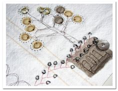 love this idea for a hand stitched story board throughout the year!