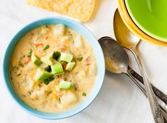 Creamy Corn Chowder.  I like the flavours here but the crushed crackers seem to be odd.  Maybe coconut cream instead?