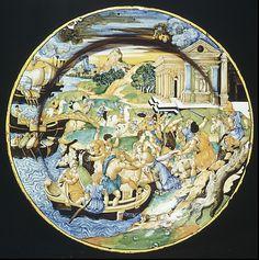 Dish - Painted in the manner of Fra Xanto Avelli da Rovigo