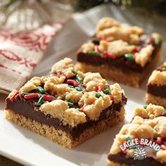 All will be merry and bright after you serve these yummy bars at your holiday party. #SweetenTheSeason