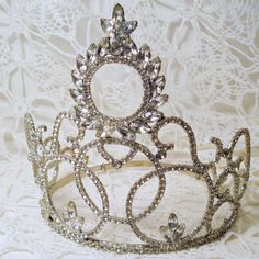 antique rhinestone tiara .