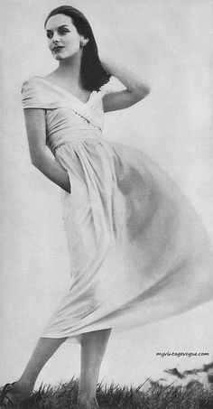 Vogue May 1956 Anne St Marie    Photo by Irving Penn