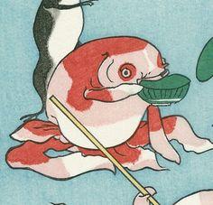 Elle(@premodernjapan)さん   Twitter Japanese Drawings, Japanese Artwork, Japanese Painting, Japanese Prints, Japan Illustration, Frog Art, Japanese Graphic Design, Japan Art, Grafik Design