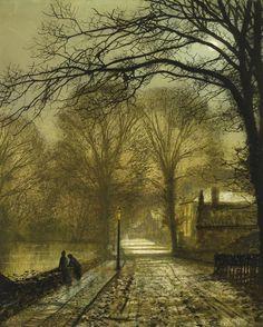 John Atkinson Grimshaw (British: 1836 – 1893) was a Victorian-era artist