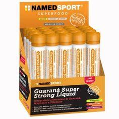 GUARANA' SUPER STRONG A base di #Guaranà, Magnesio e Vitamine è un #integratore ad azione energizzante. Ideale per favorire la performance negli #sport di #endurance. Il Guaranà esercita un effetto tonico ed energizzante; il Magnesio favorisce la funzionalità muscolare, la sintesi proteica e contrasta la stanchezza. Prezzo di listino:2,60€ Su #Eurofarmacia sconto del 20% #energy #superfood #NamedSport