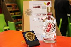 """VALENKI vodka won the gold medal and the prize """"Product of the Year 2014"""" at the """"World Food Moscow 2014"""" #valenki #award #design #vodka #exhibition #worldfood"""
