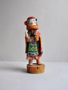 Carved Hopi Kachina - Native American Medicine Man Ivan Jackson by MisterTrue on Etsy https://www.etsy.com/listing/210176460/carved-hopi-kachina-native-american
