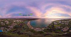 Part of an interactive aerial panorama of Anaehoomalu Bay taken at dusk. Aerial Panaroma by @panaviz  #hawaii #luckywelivehawaii #hastaghawaii #bigisland #lethawaiihappen #panaviz #potd