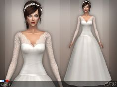 Wedding dress 25 V.2 *Update at BEO Creations • Sims 4 Updates