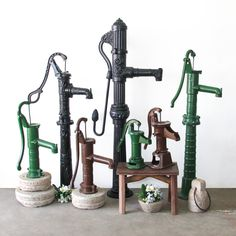 Cast Iron Hand Pumps, modeled from the originals made new fully working. Support ethical and sustainable trade. Rustic Furniture, Vintage Furniture, Northern Thailand, Indoor Outdoor Living, Interior And Exterior, Cast Iron, Recycling, Pumps, The Originals