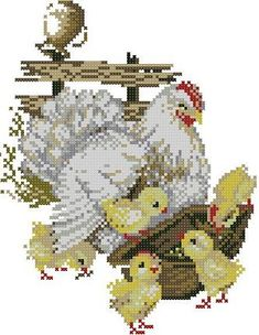 FREE Pretty Bird Cross Stitch Pattern with Cut Out Card + Envelope