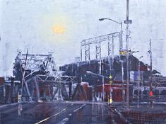Daily Bread - Urban oil painting by artist April Raber