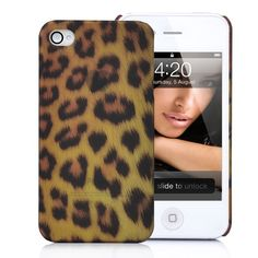 Leopard Skin Pattern  Hard Case Cover for iPhone 4S (Medium Dots)