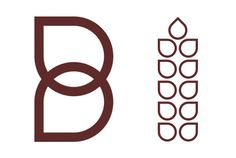 Logo symbol and wheat illustration designed for Barrows Bakery by Concrete #logo #branding #identity