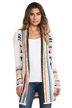 Gypsy 05 Belted Cardigan Sweater in Ivory from REVOLVEclothing