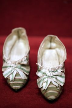 """pair of shoes, which belonged to French Queen Marie-Antoinette, as part of a sale of """"Historic memories of Royal Families""""."""