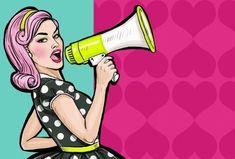 Pop Art Girl With Megaphone. Woman With Loudspeaker. Girl Announcing Discount Or Sale. Stock Illustration - Illustration of power, discount: 56563313 Bd Pop Art, Pop Art Girl, Power Girl, Power Pop, Illustration Pop Art, 1 Clipart, Modern Feminism, Corporate, Stock Foto