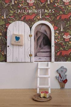 Fairy Crafts, Fairy Doors, Decoration, Miniatures, Door Ideas, Kids, Google, Home, Wooden Gates