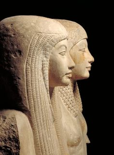 Statue of Maya and Merit Object: Statue Dating from: c. 1320 B.C. Material: Limestone