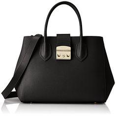 Furla Women s Borsa A Mano Furla Metropolis Handbag In Pelle Nera Black  Luxury Handbags 7f5ea60e948aa