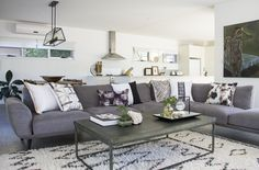 Loving the overall feel of this living room featuring ISSIE MAE scatter cushions with grey sofa creating a relaxed vibe. #interiordesign #scattercushions #cushionsonline #interiordecoration #wholesale #issiemae #beautiful #picoftheday #instamood #love #interiors #cushions #design #inspiration #homewares #design #stylist #feature #statementpiece #pattern #ontrend #naturals #tribal