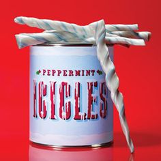 Package these sweet, minty sticks in tempting-looking tins for a great gift idea.