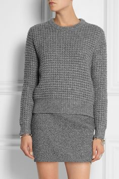 Marc by Marc Jacobs | Walley waffle-knit wool-blend sweater in gray