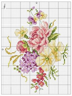 Embroidery flowers rose free pattern Ideas for 2019 Tiny Cross Stitch, Beaded Cross Stitch, Cross Stitch Borders, Crochet Cross, Cross Stitch Flowers, Cross Stitch Charts, Cross Stitch Designs, Cross Stitching, Cross Stitch Embroidery