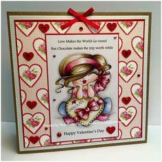 My Besties/ Sherri Baldy/ Polychromos pencils/ Ness Butler/ digi/ stamp/ valentines card/