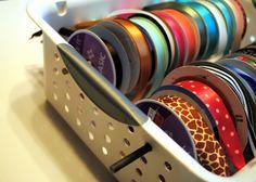 Spunky Junky: {Tutorial Tuesday} $5 dollar ribbon organizer