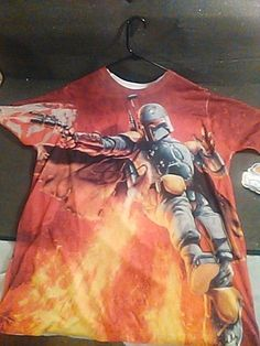 STAR WARS XL SHIRT 100% POLYESTER BOBA FETT WICKED COLOR #STARWARS #GraphicTee