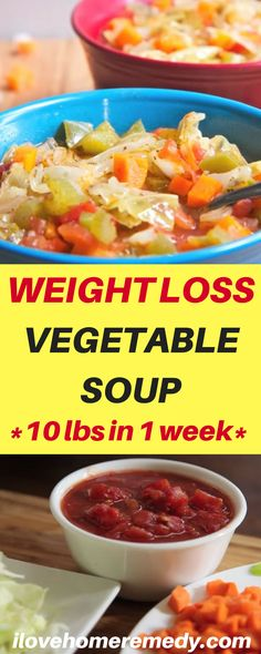This Weight Loss Vegetable Soup Recipe is one of our favorites! Completely loaded with veggies and flavor and naturally low in fat and calories it's the perfect lunch, snack or starter! Please Watch :10 lbs in 1 week Cabbage Soup Diet Recipe AKA Wonder Soup  Now about this weight loss Cabbage Soup (Wonder Soup), …