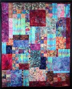 Waterfall Quilts Homemade Quilts, Colorful Quilts, Yarn Crafts, Decor Crafts, Quilt Stitching, Patchwork, Watercolor Quilt, Square Quilt, Quilt Making