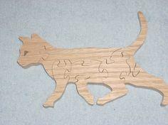Rompecabezas gato corriendo