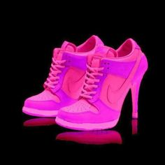 I found 'Pink High Heel Glow In The Dark Sneakers!' on Wish, dont like pink, but would love this in Blue or Purple!