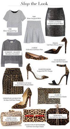 Fall Winter 2014 Fashion Trends Leopard Print Calf Hair Pumps clutch