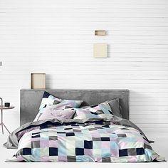 Mosaic Quilt Cover, Azure
