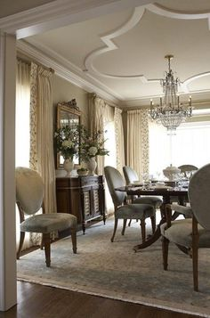Beautiful and Luxury Western Dining Room Design