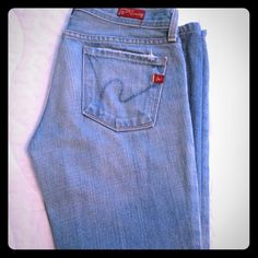 """Citizens of Humanity"" Light Blue Jeans Light blue Humanity jeans. AUTHENTIC 7 for all Mankind Jeans"