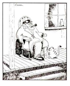 13 'The Far Side' Comic Strips Featuring Cats