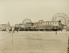 Boardwalk, Coney Island, Showing Present Shore Line From Old Jetty Number 11 Near Foot Of West 10th Street (Vintage and Flea)