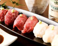 熊本馬刺&四川薬膳火鍋 馬え田 :新鮮な馬肉のにぎり寿司