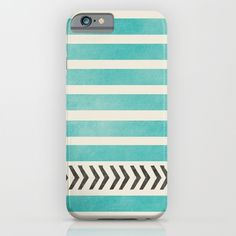 TEAL+STRIPES+AND+ARROWS+iPhone+&+iPod+Case+by+Allyson+Johnson+-+$35.00
