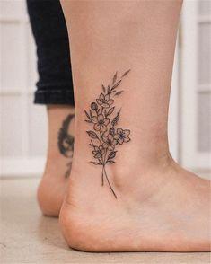 Ankel Tattoos, Cute Ankle Tattoos, Ankle Tattoos For Women, Cute Tattoos, Black Tattoos, Body Art Tattoos, Small Tattoos, Tatoos, Tiny Tattoo